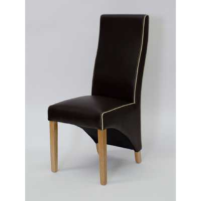 Wave Coco Bone Contrast piping Dining Chair