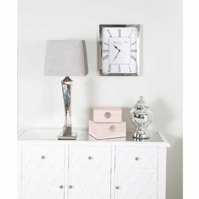 Rectangular Nickel Wall Clock