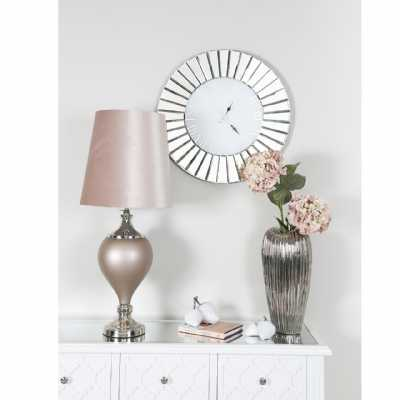 Modern Round Fan Effect Mirror Wall Clock
