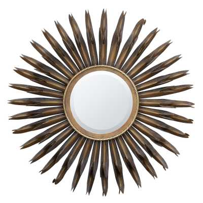Gold Sunburst Metal Framed Mirror