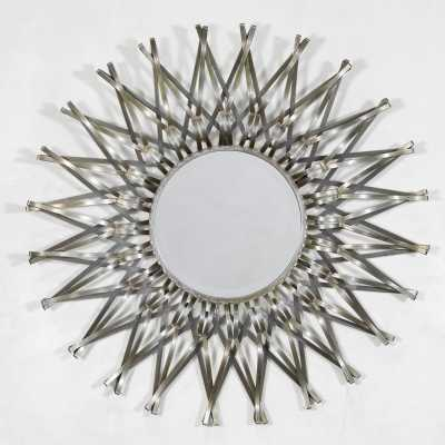 Sunburst Geometrical Metal Framed Mirror