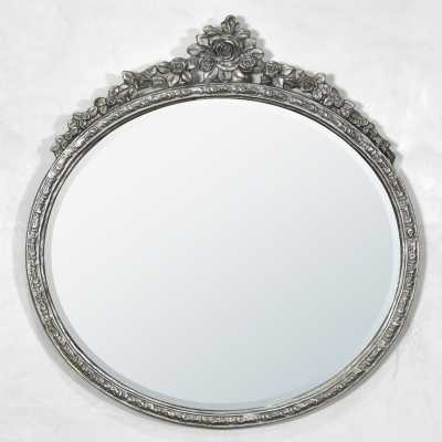 Oval Metal Framed Mirror