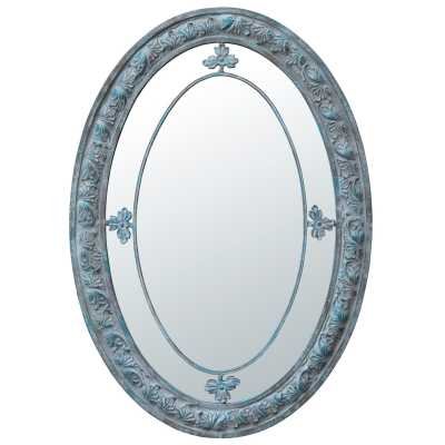 Vintage Style Decorative Oval Margin Wall Mirror