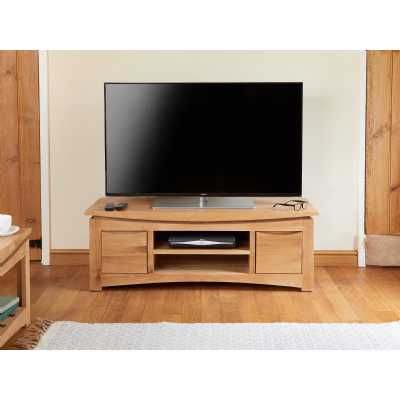 Modern Light Solid Oak Widescreen Television Cabinet