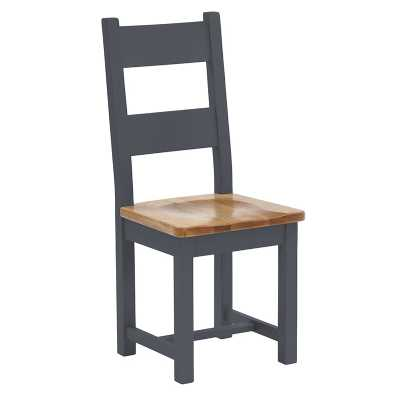 Vancouver Lacquered Seat Downpipe Painted Horizontal Slat Dining Chair