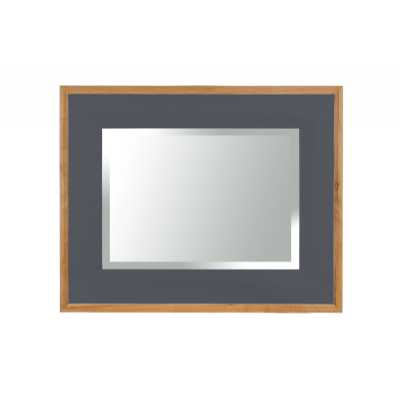 Vancouver Lacquered Oak Downpipe Painted Frame Rectangular Wall Mirror