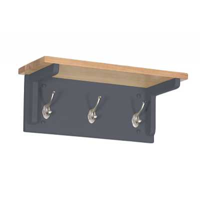 Vancouver Lacquered Oak Top Downpipe Painted 3 Hook Coat Rack