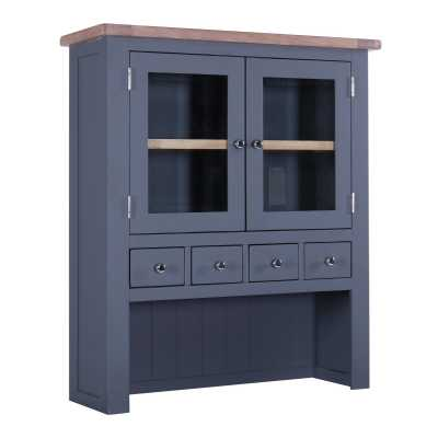 Chalked Oak And Downpipe 4 Drawer 2 Door Hutch