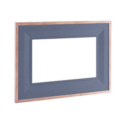 Large Chalked Oak and Downpipe Painted Rectangular Wall Mirror