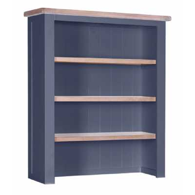 Large Chalked Oak and Downpipe Painted Hutch with 3 Shelves
