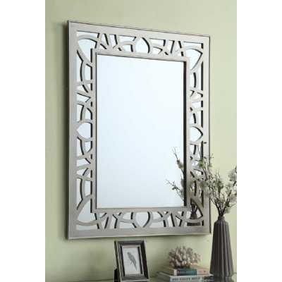 Gallo Silver Rectangle Wall Mirror With Stylish Detailing