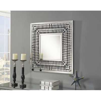 Crystal Modern Square Mirrored Glass Wall Mirror