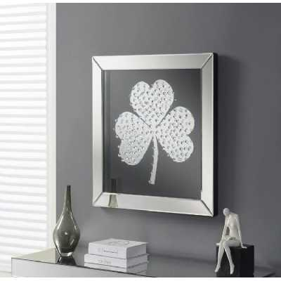 Shamrock Liquid Wall Art with Mirrored Glass Frame
