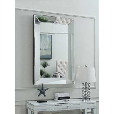 Large Miami Rectangular Wall Mirror 4ftx3ft with Mirrored Glass Frame
