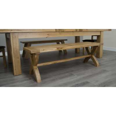 Deluxe X Leg Kitchen Dining Bench
