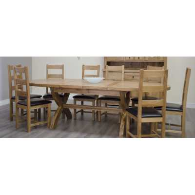 Deluxe Xleg Oval Extending Table