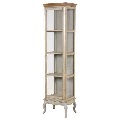 Wiltshire Aged Narrow Olive Green Glass Display Cabinet