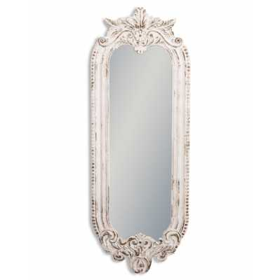 Rustic Chantilly White Narrow Wall Mirror