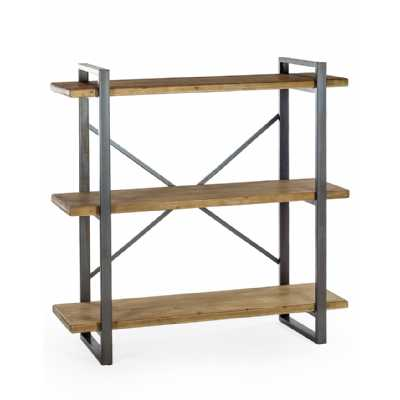 Urban Chic Industrial Camden Metal And Wood Shelf Unit