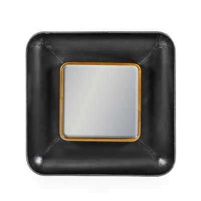 Black And Bronze Square Lincoln Wall Mirror