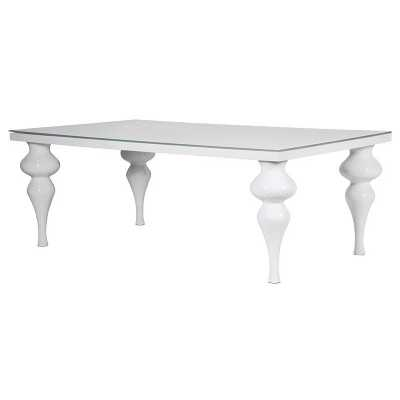 Large Modern White High Gloss Dining Table