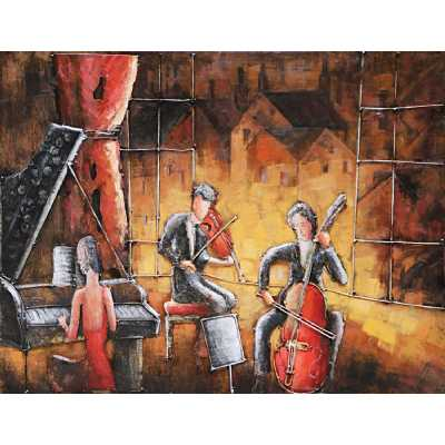 Paintings 3D Metal Jazz Band Painting