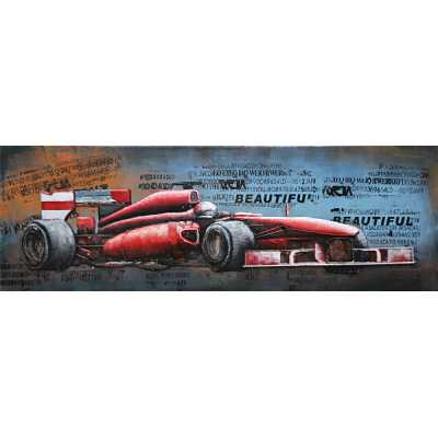 Paintings 3D Metal on Canvas Grand Prix Racing Car Painting Wall Art