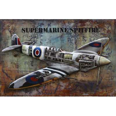 Paintings 3D Metal Spitfire Painting