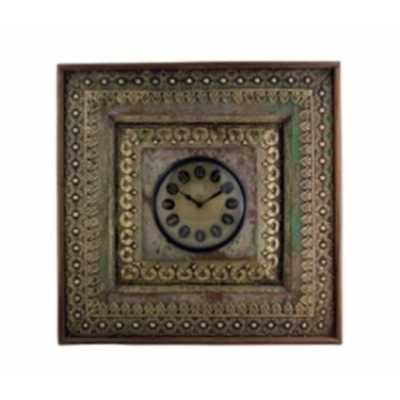 Clocks Upcycled Window Clock with Brass Metal Fittings