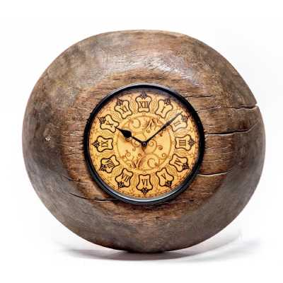 Clocks Recycle Antique Tagari clock with Wooden Dial