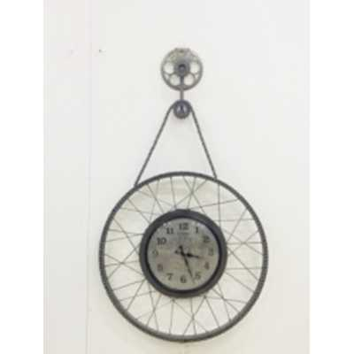 Clocks Upcycled Cycle Wheel Clock