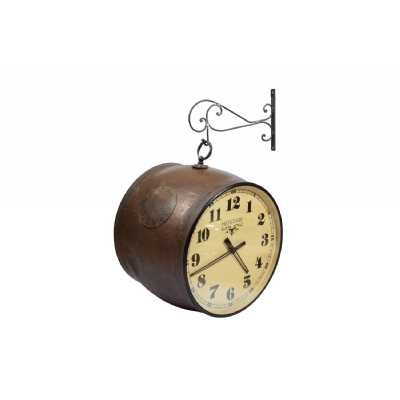 Vintage Style Old Iron Musical Nagada Themed Dual Side Wall Clock 47 x 52cm