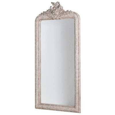 Tall Distressed Shabby Chic Crest Top Wall Mirror