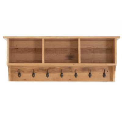 Vancouver Sawn Coat Rack with Shelves