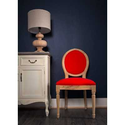 French Louis Side Chair Oak Red