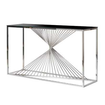 Contemporary Stainless Steel Twisted Frame Console Table