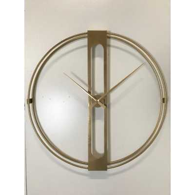 Large Round Gold Frame Clock