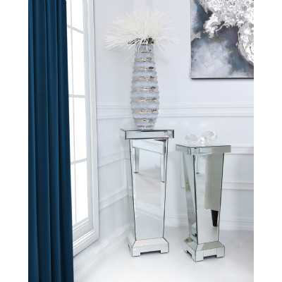 Alice Mirrored Glass Modern Decorative Large Pedestal Stand