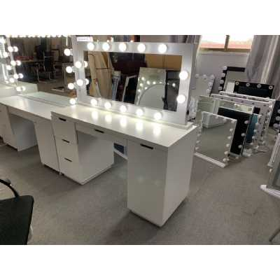 LA Dressing Table And White Tabletop Hollywood Mirror with Bluetooth Speaker