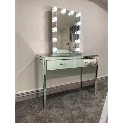 Hollywood Glass Console And Desktop Mirror