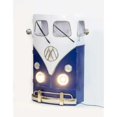 Lighting and Furniture VW Tall Train Engine Head Styled Cabinet With Lights 113x50x150cm