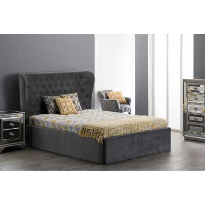 4ft6 Double Roberta Bed Grey