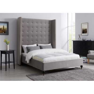 4.6ft Double Melrose Bed Grey