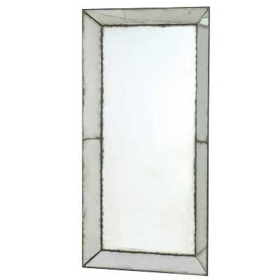 Large Venetian Antiqued Mirrored Glass Wall Mirror