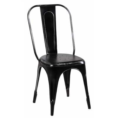 Upcycled Originals Black Iron Chair