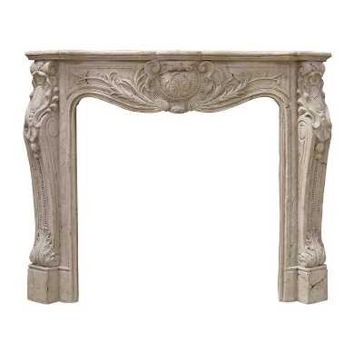 Traditional French Style Roman Stone Fire Place Surround