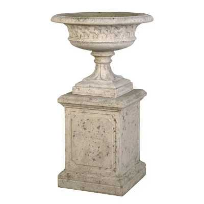 Large Eastwell Garden Outdoor Urn On Base