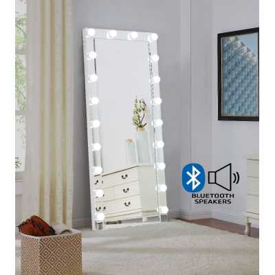 Hollywood Floor Mirror Glass with Bluetooth Speaker