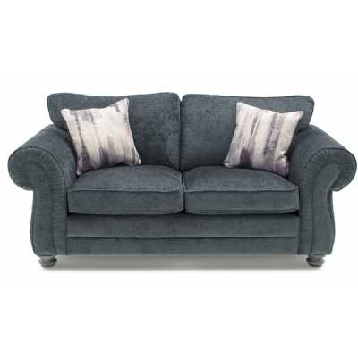 Hollins 2 Seater Fixed Charcoal (2 scatter cushions)