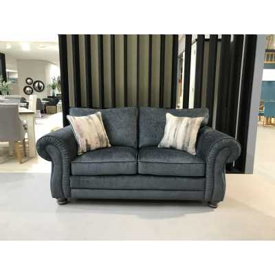 Hollins 3 Seater Fixed Charcoal (2 scatter cushions)
